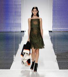 Dark #green #dress by Dior - Fashion9shop.com
