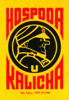 Great design Matchbox label from Czechoslovakia around 1960.