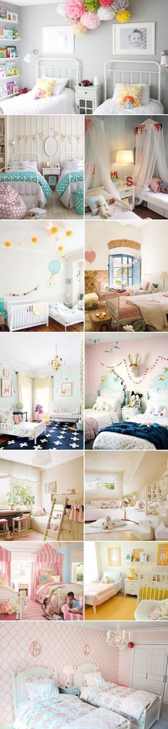 Are you trying to decorate your shared kids room and want to give them each of feeling of their own space. Get inspired by these beautiful children's bedroom ideas. They are a perfect way to have your kids feeling like they have their own spaces but still keeps the room looking beautiful and organized. #kidsroomideasshared #beautifulbedrooms