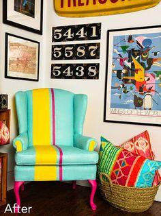 sillones con rayas color living - Buscar con Google