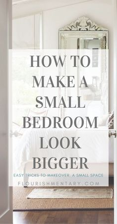 This list of small space hacks are easy to incorporate and are sure to make any small bedroom feel more open and airy. Try combining a couple of these tips to turn your tiny bedroom into a retreat youll never want to leave! Tiny Master Bedroom, Very Small Bedroom, Cozy Small Bedrooms, Couple Bedroom, Small Bedroom Hacks, Furniture For Small Bedrooms, Small Bedroom Ideas For Women, Small Bedroom Inspiration, Small Bed Room Ideas