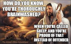 You're proud of being called a sheep.