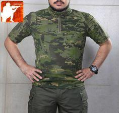 MULTICAM-TROPIC-MTP-Short-Sleeve-Combat-SHIRT-Military-T-Shirt-Hunting-Forest-Men