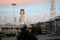 The air traffic control tower first used in cleveland
