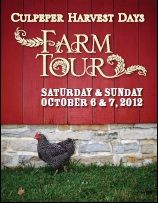 Culpeper Harvest Days Farm Tour, October 6-7, need Volunteers!! Call 540-727-3410 to help!