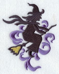 Halloween Witch Waffle Weave Kitchen Towel by StitchnJEmbroidery, $10.00