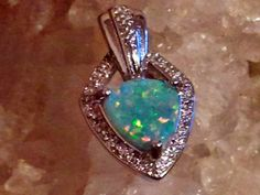 ELEGANT Fire Opal Womens Jewelry Sterling Silver Pendant