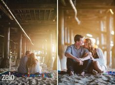 Beach Sunset Engagement Photos - Zelo Photography - see more at www.zelophotoblog.com/blog
