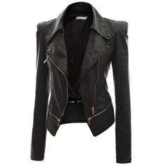 Kinikiss Black Leather Jacket