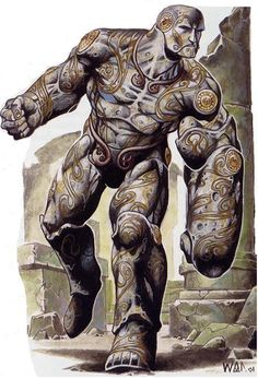 Colossus (Greek) - Giant adamantium versions of the Automatons. Standing as tall as a giant these almost invincible golems were created by the Dvergr and are among the last enemies you face. They are very rare as adamantium is a rare metal and it takes a lot of the precious metal to create one.