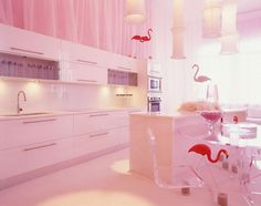 Pink kitchen by Bno Design too much pink for me but love the concept