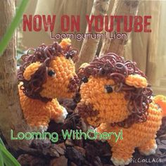 Rainbow Loom Lion - Loomigurumi - Looming WithCheryl ( Looming With Cheryl ) Loomigurumi Tutorial is Now on YouTube! Charms / figures / gomitas / gomas / animals / Amigurumi. Crochet hook only. Please Subscribe ❤️❤ m.youtube.com/user/LoomingWithCheryl