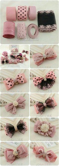 Diy baby bows headbands no sew 65 ideas Diy Ribbon, Ribbon Crafts, Ribbon Bows, Hair Ribbons, Diy Hair Bows, Diy Headband, Baby Headbands, Lace Bows, Diy Hair Accessories