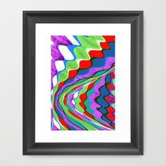 I Dream in Colors Framed Art Print by Vikki Salmela, #original #graphic #green #pink #magenta #Mid #Century #Modern #art for #interior #fashion #decor. #framed #wall #giclee #prints perfect for #living room #office #bedroom or special #gift. #coordinates with other #home products, #pillows #rugs #blankets and more.
