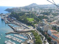 Panoramic Air View of Funchal, the capital of Madeira Island, Portugal