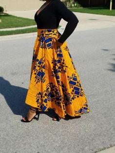 African Fabric Hi-low Maxi Circle Skirt; African Print Skirt African Fabric Hi-low Maxi Circle Skirt; African Party Dresses, African Fashion Skirts, African Print Fashion, Skirt Fashion, African Print Skirt, African Print Dresses, African Dress, African Fabric, Ankara Fabric