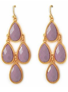 lilac earrings by hester