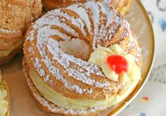 Zeppoli di San Giuseppe, or St. Joseph's Cream Puffs.-- this is the pastry I look forward to every year since dating an Italian: St. Joseph's Day pastries!