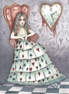 Alice in Wonderland watercolor by Dominic Murphy