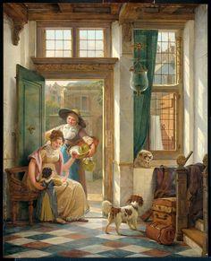 Een kersenverkoopster aan de deur  Strij, Abraham van (I)    Verv.jaar: 1816