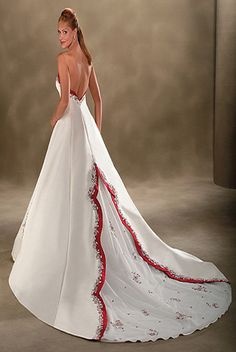 Bonny $215  bonny wedding dresses 237 - I like it but I'm not a fan of the red.  Make it all white!  :)