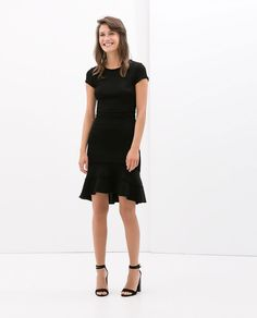 DRESS WITH LAYERED SKIRT-Plain-Dresses-WOMAN-SALE | ZARA United States
