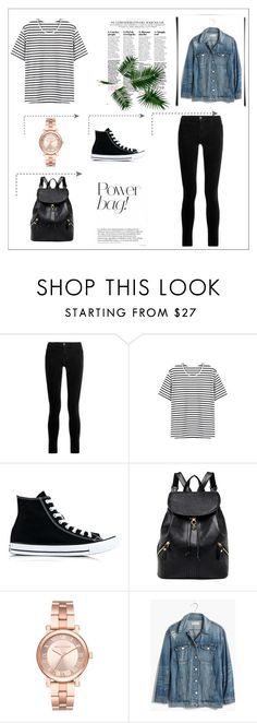 """Untitled #1"" by iris-374 on Polyvore featuring J Brand, Converse, Michael Kors and Madewell"