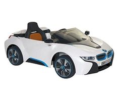 Ride On Toys Car For Kids Power Wheels BMW I8 6V Electric MP3 Cable Sports White #BMW