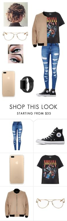 """""""Nice2KnoU"""" by kilam-nyaz on Polyvore featuring WithChic, Converse, Trunk LTD, River Island, NIKE and Garrett Leight"""