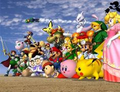 Nintendo will be revealing Super Smash Bros. Wii U gameplay for the first time during Super Smash Bros. has always been one of Nintendo's aces in the hole. On the Nintendo it gave . Super Smash Bros Melee, Super Smash Bros Characters, Nintendo Characters, Super Mario, Mario Bros., Mario Smash, Pikachu, Pokemon, Wii U