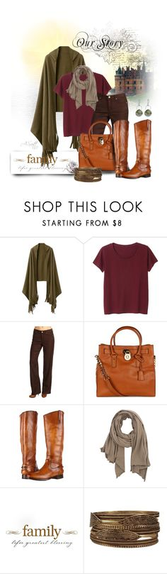 """Untitled #344"" by ammiescott ❤ liked on Polyvore featuring Monki, Miraclebody Jeans by Miraclesuit, MICHAEL Michael Kors, Frye, American Vintage, Melissa Joy Manning, women's clothing, women, female and woman"