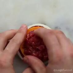 Big Mac onion rings. Onion rings made out of Big Macs