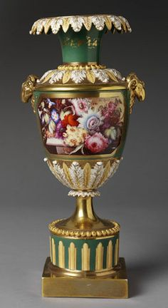 Vase of porcelain painted with enamels and gilded, possibly painted by Thomas Steel, Minton & Co., Stoke-on-Trent, ca. 1845