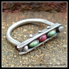 Handmade Sterling Silver Ruby & Turquoise Ring. $90.00, via Etsy.