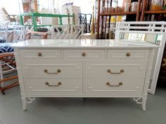 $1,400 - Thomasville Faux Bamboo Dresser