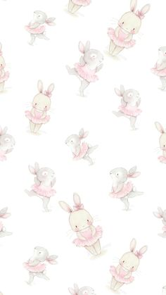 Easter Wallpaper, Kawaii Wallpaper, Mobile Wallpaper, Wallpaper Backgrounds, Pink Rabbit Wallpaper, Cellphone Wallpaper, Iphone Wallpaper, Ballet Wallpaper, Bunny Art