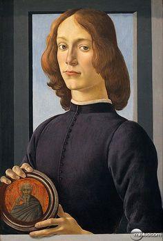 Портрет дівчини з медальйоном. 1480-1485.
