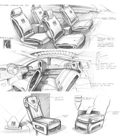 Automotive Sketches by Michel Alvarez at Coroflot.com