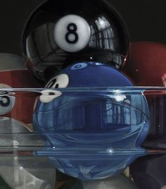 Pool Bowl, No. 22 by James Neil Hollingsworth (oil on panel)