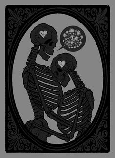 True love and all that jazz! Skeleton Love, Skeleton Art, Memento Mori, Illustrations, Illustration Art, Pop Art, True Love, My Love, Skulls And Roses