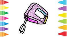 Glitter Cake Beater how to coloring and drawing for Kids & Color pages Glitter Cake, Fun At Work, Drawing For Kids, Coloring For Kids, Make It Yourself, Drawings, Painting, Sparkly Cake, Sequin Cake