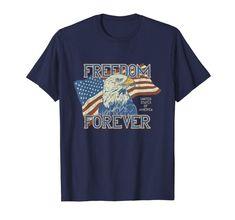 Amazon.com: Freedom Forever USA Flag & Eagle Patriotic Veterans Day Gift T-Shirt: Clothing  #usa #freedom #patriotic #baldeagle #eagle #forever #us #unitedstates