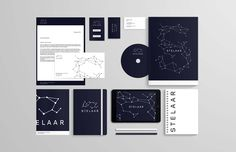 Visual identity and branding for Stelaar, a stellar observatory in Bucharest.