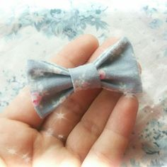 Dainty little bow just been made up for an Etsy order. Perfect Summer accessory