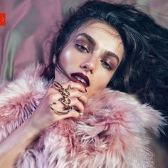 holly.makeup #INSPO 🌸 How gorgeous is is! Glowing skin, glossy lids and dark hues create the perfect balance of moodiness and playfulness in this image. Makeup by @romyglow 😻 - - - - #voguechina #2013 #andreeadiaconu #makeup #glossylids #glowingskin #darklips #vogue #fashion #editorial #fashionmakeup #burgundy #berry #purple #violet #fashion 2017/04/06 21:33:52