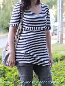 Tutorial: Maternity t-shirt pattern alteration · Sewing | CraftGossip.com