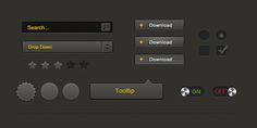 Free PSD: Simple UI Kit