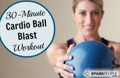 Have a Ball with This Calorie-Torching Cardio Workout! | via @SparkPeople @Jess Liu Smith Gomez #fitness #exercise #video