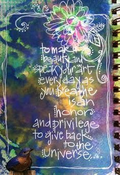 beautiful art journal pages