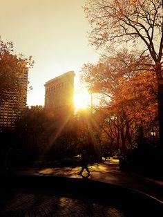 Flatiron Building Sunset in New York City by Vivienne Gucwa, via Flickr